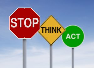 stop think act - health and safety compliance